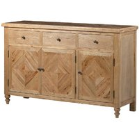 Chester Oak Parquet Three Door Sideboard
