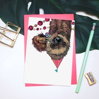 'Party Animal' Sloth Greeting Card