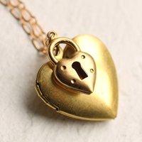 Heart Padlock Personalised Locket Necklace