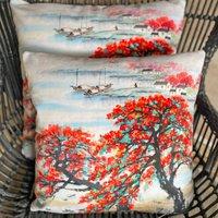 Blossom Tree Boutique Velvet Cushion