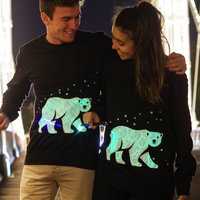 Interactive Glow Polar Bear Christmas Jumper