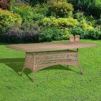 Kalas Natural Wicker Garden Table