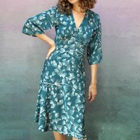 Mountain Pine Print Tea Dress