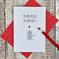 Best Cat Mum Thumb Print Card