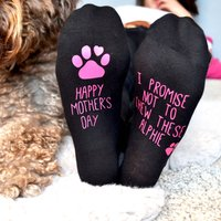 Mother's Day Socks From The Dog, Bright Pink/Pink/White