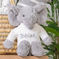 Personalised Bashful Elephant Soft Toy