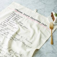 Personalised Recipe Tea Towel