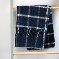Pure New Wool Windowpane Pram Blankets