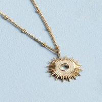 Full Sunburst Necklace 18 Ct Gold Plate, Gold