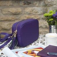 Colourful Personalised Leather Cross Body Handbag