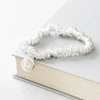 Personalised Engraved Silver Stretch Bracelet, Silver