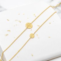 Gold Friendship Bracelet With Tree Of Life, Gold