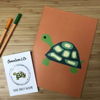 Turtley Awesome Pin Badge And Notebook Gift Set