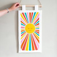 Retro Sunshine Textile Wall Hanging