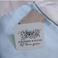 Let Love Grow Personalised Seeds Pack Rubber Stamp