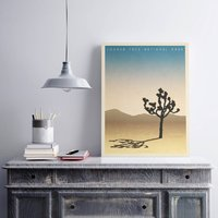 Personalised Joshua Tree Vintage Style Travel Print