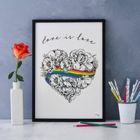 Love Is Love Print, Gay Pride, Supporting Lgbt