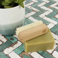 Sustainable Wood Small Nail Brush With Plant Bristles