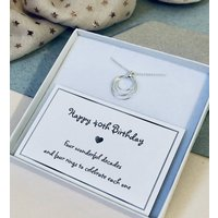 40th Birthday Sterling Silver Ring Necklace, Silver