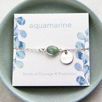 Sterling Silver Aquamarine Bracelet, Silver