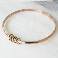 18ct Rose Gold Vermeil Personalised Bangle, Gold