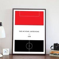 'Your Team' Retro Football Pitch Print