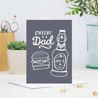 Cheers Dad Father's Day Card