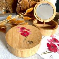 Personalised Birth Flower Jewellery Box