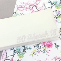 Wedding Date Personalised Bridal Clutch