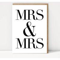 Mrs And Mrs Celebration Card