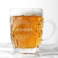 Grandads Personalised Dimpled Beer Glass