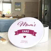 Personalised Bakes Tin, Blue/Spring Green/Green