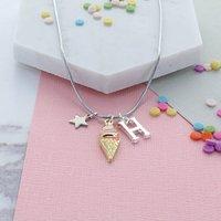 Ice Cream Personalised Charm Necklace