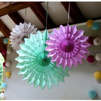 Macaroon Paper Fan Decoration Set