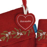 Personalised Embroidered Christmas Stocking Name Tags