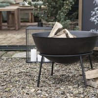 Brazier With Firewood Grid And Stand