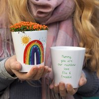 Mother's Day Rainbow Personalised Plant Pot Gift