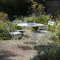 Large Bistro Set In Chalk