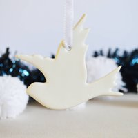 Christmas Porcelain Dove