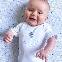 Personalised Birth Flower Baby Grow