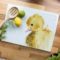 Inky Duckling Glass Worktop Saver