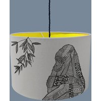 Gorilla Lampshade With Fabric Colour Options, Purple/Blue/Grey