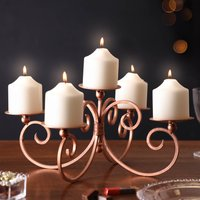Candle Display Copper Table Centrepiece