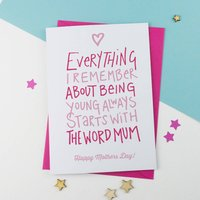 Everything Mother's Day Card