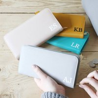 Personalised Initials Large Zip Around Wallet