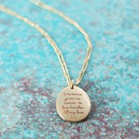 Personalised Long Distance Long Necklace