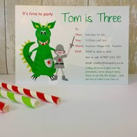 16 Knights And Dragon Party Invites Or Thankyous