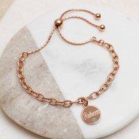 Personalised 18ct Rose Gold Birthstone Bracelet, Gold