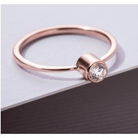 9ct Gold Tall Diamond Engagement Ring, Gold
