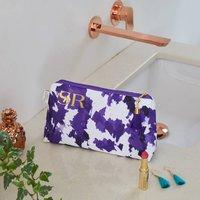 Personalised Violet Storm Waterproof Makeup Bag